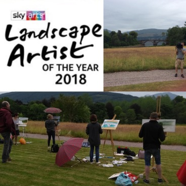 Sky Landscape Artist of the Year, painting as a wildcard. What a wonderful day it was, even though I overdid the painting. I had never timed myself to paint in 4 hours before.